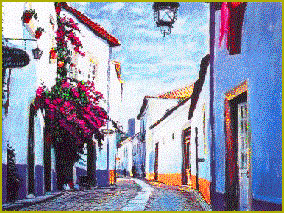Street Scene in the Old Quarter, Cascais, Portugal