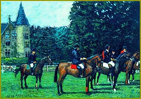 Lining Up - Point to Point Race at the Rothschild Chateau