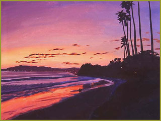 Sunset at Butterfly Beach, Montecito