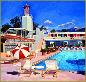 Morning at the Coral Casino, Montecito