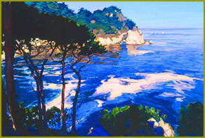 Morning Beneath the Pines: On the Cliffs, Point Lobos, Carmel