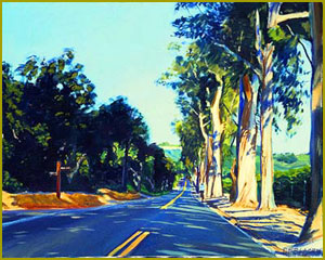 East Valley Road-Afternoon Shadows, Montecito